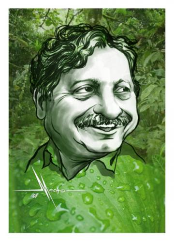 Cartoon: Chico Mendes (medium) by Mecho tagged caricatura,caricature