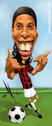 Cartoon: Ronaldinho (medium) by Mecho tagged ronaldinho,soccer