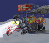 Cartoon: overnight a Christmas train... (small) by ivo tagged wow