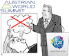 Cartoon: Climate Protection Summit (small) by RachelGold tagged schwarzenegger,climate,summit,vienna,trump,co2,reduction