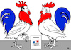 Cartoon: cockfight (small) by RachelGold tagged election,france,macron,lepen