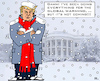 Cartoon: Global Warming (small) by RachelGold tagged usa,trump,climate,change,global,warming,theory,extreme,temperature,winter,cold,snow,white,house