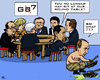 Cartoon: International Kindergarten (small) by RachelGold tagged g8,g7,usa,gb,france,germany,canada,eu,japan,italy,russia,obama,hollande,merkel,barroso,renzi,cameron,putin,round,table