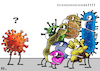 Cartoon: Virale Xenophobie (small) by RachelGold tagged covid,19,corona,virus,pandemie
