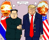 Cartoon: World Peace (small) by RachelGold tagged usa north korea trump kim summit peace world war
