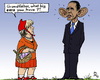 Cartoon: German Red Riding Hood (small) by MarkusSzy tagged usa,germany,nsa,merkel,obama