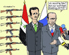 Cartoon: Solidarity (small) by MarkusSzy tagged syria russia assad putin support trading partner arms