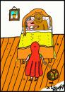 Cartoon: Reds Shock (small) by chriswannell tagged red ridinghood wolf grandma gag cartoon