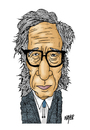 Cartoon: Isaac Asimov (small) by Nayer tagged isaac,asimov,russian,russia,america,american,usa,robot,author,writer