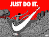 Cartoon: Just Do It (small) by Nayer tagged police,sport