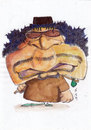 Cartoon: Gaddafi (small) by zed tagged muammar gaddafi libya war politician dictator oil world crisis portrait caricature