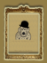 Cartoon: the ape in history-no.6-chaplin (small) by schmidibus tagged sir charles spencer chaplin komiker schauspieler komponist regisseur tramp modern times the great dictator landstreicher stummfilm filmikone