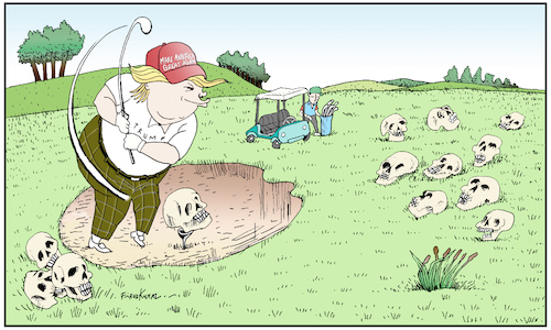 Trump spent his weekend golfing