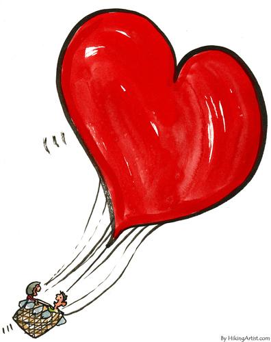 Cartoon love balloon medium by frits ahlefeldt tagged love emotion