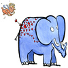 Cartoon: Amore (small) by Frits Ahlefeldt tagged love,elephant,valentine,heart,cartoon,hikingartist
