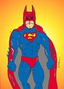 Cartoon: batman superman (small) by kader altunova tagged batman,superman,fusion
