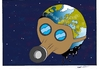 Cartoon: save the world (small) by kader altunova tagged gasmaske,welt,universum,meer,walt