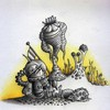 Cartoon: Mauli Space-Art (small) by Jupp tagged maulwurf mole space art weltraum jupp illustration