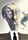 Cartoon: Michail Bulgakov (small) by Mattia Massolini tagged bulgakov,caricature,writer,russia