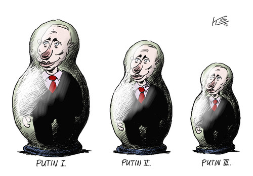 Cartoon: Putin (medium) by Stuttmann tagged russia,russland,putin