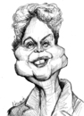 Cartoon: Dilma Rousseff (small) by horate tagged brasil
