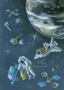 Cartoon: Trash picker (small) by ozbek tagged space,artificial,satellites,communication
