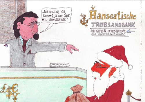 Cartoon: Weihnachtsmotive (medium) by mescalero tagged weihnachtspostkartenmotive