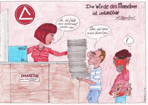 Cartoon: Hartz 4 Kalender Motiv Juli 2010 (medium) by mescalero tagged hartz,kalender