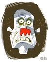 Cartoon: Hallow (small) by Gordon Hammond tagged monster,scary,gordonhammond