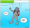 Cartoon: Fire Tube (small) by gultekinsavk tagged fire,dive,diver,tube,oxygen,o2,scuba,diving