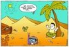 Cartoon: Global Warming (small) by gultekinsavk tagged global,warming,ekological,balance,diver,desert,water