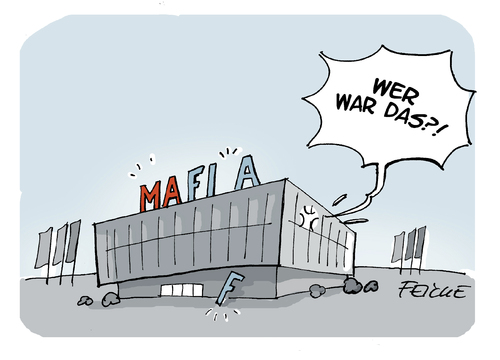 Cartoon: MAFIFA (medium) by FEICKE tagged blatter,fifa,federal,association,football,skandal,fbi,fussball,mafia,bestechung,weltmeisterschaft,katar,2022,blatter,fifa,federal,association,football,skandal,fbi,fussball,mafia,bestechung,weltmeisterschaft,katar,2022
