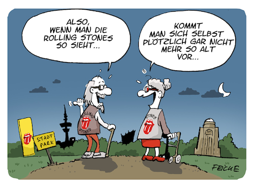 Cartoon: Rolling Stones in Hamburg (medium) by FEICKE tagged rock,rolling,stones,mick,jagger,keith,richard,alt,alter,musik,rente,rock,rolling,stones,mick,jagger,keith,richard,alt,alter,musik,rente