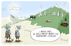 Cartoon: Heimat Hollywood (small) by FEICKE tagged heimat,bayern,csu,hollywood,los,angeles,film,wahrzeichen