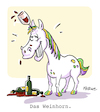 Cartoon: Weinhorn (small) by FEICKE tagged wein,einhorn,wortspiel