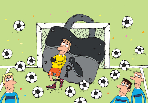 Cartoon: Der Torwart (medium) by belozerov tagged fußball,football,torwart,goalkeeper
