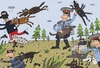 Cartoon: Die Polizeihunde (small) by belozerov tagged polizei,police,hund,dog,kriminal
