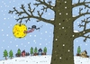 Cartoon: The Worm (small) by Sergei Belozerov tagged worm,wurm,winter,apfel,apple,schnee,snow