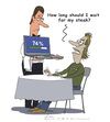 Cartoon: Just wate (small) by Elkin tagged restaurant