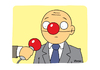 Cartoon: Interview 1 (small) by Vhrsti tagged interview,politician,microphone,nose,clown,democracy,news,press