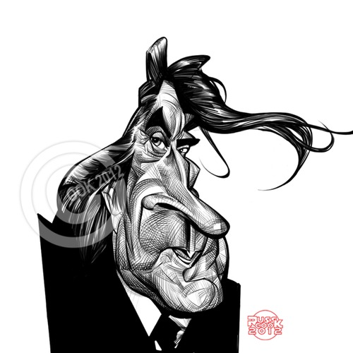 Cartoon: Bryan Ferry (medium) by Russ Cook tagged cartoon,drawings,photoshop,cintiq,wacom,pencil,digital,portrait,illustration,caricature,drawing,cook,russ,artist,glam,pop,celebrity,musician,music,roxy,singer,ferry,bryan