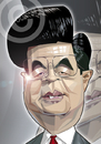 Cartoon: Hu Jintao (small) by Russ Cook tagged chinese,china,leader,premier,president,zeichnung,karikature,karikaturen,caricature,caricatures,portrait,cartoon,cartoons,illustration,russ,cook,face