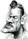 Cartoon: John Steinbeck (small) by Russ Cook tagged john steinbeck writer america author pencil drawing caricature portrait illustration cartoon zeichnung karikature russ cook karikaturen