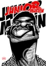 Cartoon: Junior Murvin (small) by Russ Cook tagged caricature,junior,murvin,lee,scratch,perry,musician,police,and,thieves,reggae,singer,russ,cook,the,clash