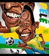 Cartoon: Pele (small) by Russ Cook tagged pele,caricature,russ,cook,football,edson,arantes,do,nascimento,soccer,brazil,brazilian,striker,athlete,greatest,cartoon,digital,russell,world,cup