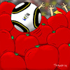 Cartoon: killertomatoes (small) by Toonmix tagged wm