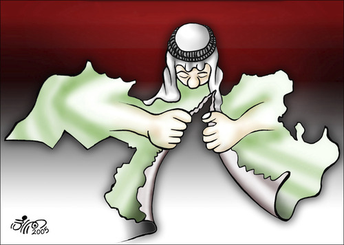 Cartoon: Arab Fetishism 01 (medium) by samir alramahi tagged arab,fetishism,map,ramahi,politics,cartoon