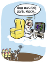 Cartoon: Level (small) by Hopfauf tagged level,jesus,gott,game,spielen,konsole,kreuzigung,kreuz,sucht,süchtig,religion,videospiele
