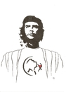 Cartoon: Che Guevara unknown (small) by Erwin Pischel tagged che guevara wein weinglas pischel