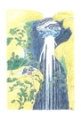 Cartoon: Waterfall-TV (small) by Erwin Pischel tagged hokusai wasserfall waterfall fernsehen tv regenerative energie pischel